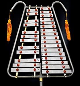 chromatic lyre bell game with 29 touches metal bars and