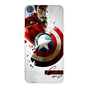 Enticing CV War Multicolor Back Case Cover for HTC Desire 820