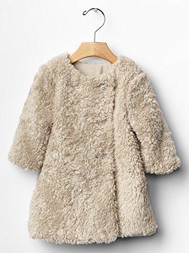 Gap Baby Sherpa Swing Coat Size 6-12 M front-979846