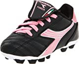 Diadora Forza MD Soccer Cleat (Toddler/Little Kid/Big Kid),Black/Pink,13 M US Little Kid