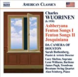 echange, troc  - Charles Wuorinen Ashberyana - Fenton Songs - Josquiniana