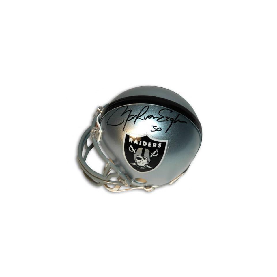 Mark Van Eeghen Oakland Raiders Autographed Mini Helmet