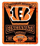 "NFL Cincinnati Bengals Marque Printed Fleece Throw, 50"" x 60"", Orange"