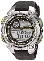 Armitron Men's 40/8255GRY Chronograph Black Resin Yellow Accented Oversized Digital Watch from Armitron