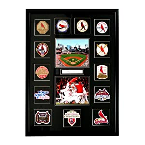 MLB St. Louis Cardinals World Series Patch Collection Framed with 2011 World Series... by National Emblem