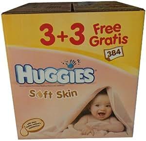 OFFRE 3+3 GRATUITS : 384 Lingettes Soft Skin en fibres naturelles au Karité