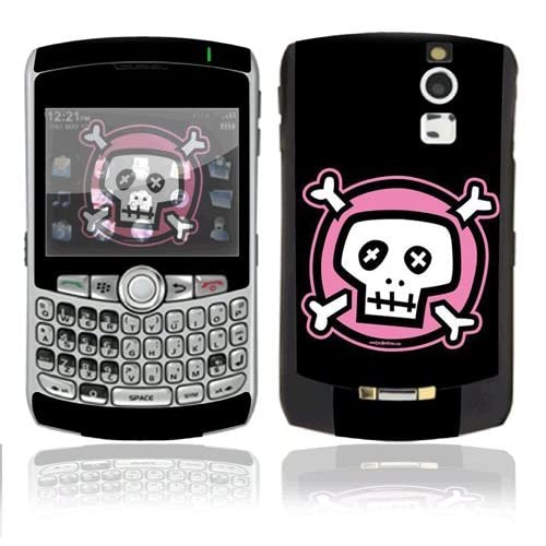 Pink Crossbones Decorative Skin Cover Decal Sticker for BlackBerry Curve 8350i Cell Phone
