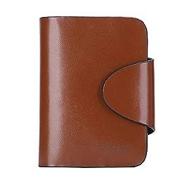 Harrm\'s Best Genuine Leather wallets,Tirfold/Zipper leather buckle Italian 100% Cattle