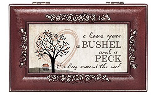 Love You Bushel and a Peck Rosewood Finish Jewelry Music Box - Plays You are My Sunshine (Picture Jewelry Box compare prices)
