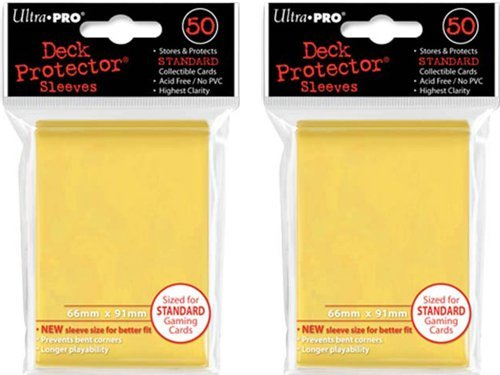 (100x) Ultra PRO Yellow Deck Protectors Sleeves Standard MTG Colors