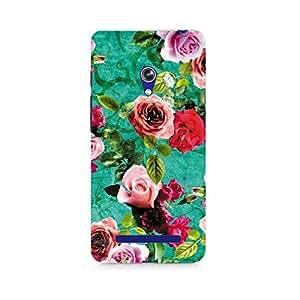 Motivatebox- Flower Print Premium Printed Case For Asus Zenfone 5 -Matte Polycarbonate 3D Hard case Mobile Cell Phone Protective BACK CASE COVER. Hard Shockproof Scratch-