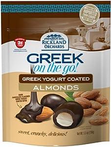 Rickland Orchards Dark Chocolate Greek Yogurt, Coated Almonds, 5.5 Ounce