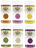 India Tree Nature's Colors Decorating Sprinkles, Variety 6 Pack