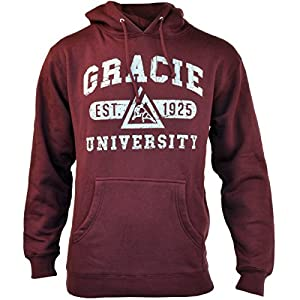 Gracie Jiu-Jitsu Limited Edition University Hoodie - 2XL - Burgundy