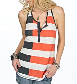 Slyvia Rugby Striped Tank Top