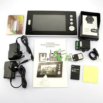 visiophone sans fil fil solaire mobile prise photos interphone interphone video. Black Bedroom Furniture Sets. Home Design Ideas