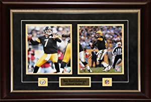 Ben Roethlisberger Pittsburgh Steelers signed 2 photo frame by Midway Memorabilia