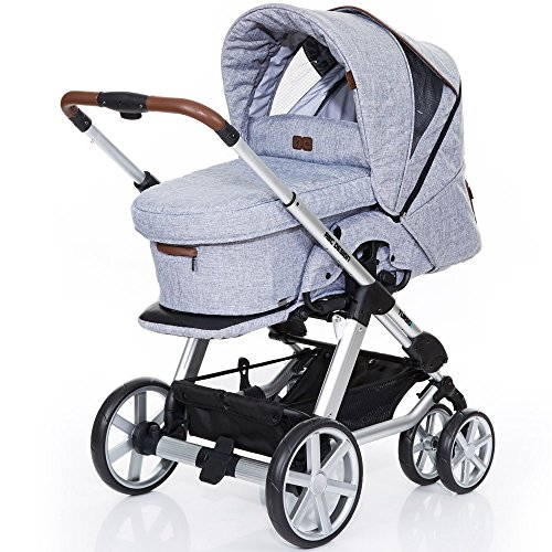ABC-Design-Kombi-Kinderwagen-Turbo-6-Style-Graphite-Grey-grau-braun