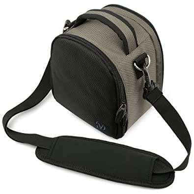 Laurel Compacts et Bridges Reflex Hybrides Etui Medium SLR Camera Bag pour appareil photo pour Sony NEX Nikon-1 J1 Pentax Canon EOS Panasonic Lumix DMC Olmypus Pen (gris)