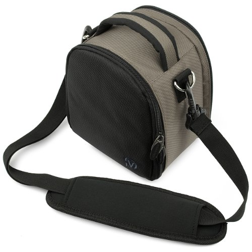 Vg Steel Gray Laurel Dslr Camera Carrying Bag With Removable Shoulder Strap For Nikon D3200 Digital Slr Camera