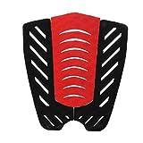ノーブランド品 3枚 EVA サーフボード ショートボード テール パッド デッキ グリップ トラクション ストンプ マット  黒と赤