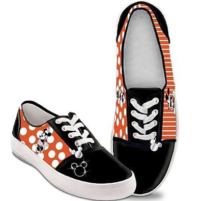 Disney Retro Mickey & Minnie Women's Canvas Shoes by The Bradford Exchange: 5.5 M US women