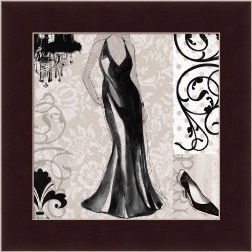 Girl'S Best Friend By Carol Robinson Fashion Gown 7.5X7.5 Framed Art Print Picture Wall Decor front-229637