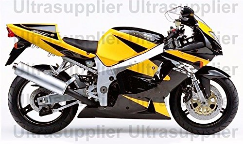 Yellow Black Silver Complete Injection Fairing for 2001-2003 Suzuki GSXR 600 750 (2001 Gsxr 750 Parts compare prices)