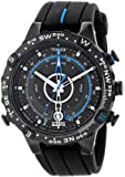 Timex Men's T49859 Intelligent Quartz Adventure Series Tide Temp Compass Black Silicone Strap Watch