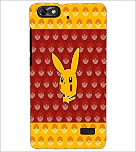 PrintDhaba Pattern D-5571 Back Case Cover for HUAWEI HONOR 4C (Multi-Coloured)