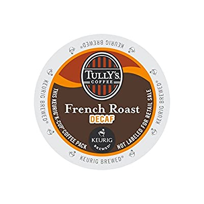 Tully's Coffee French Roast DECAF 4 Boxes of 24 K-Cups by Tully's Coffee French Roast DECAF 4 Boxes of 24 K-Cups