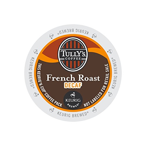 Tully's Coffee French Roast DECAF 4 Boxes of 24 K-Cups (K Cups Coffee Tullys French Roast compare prices)