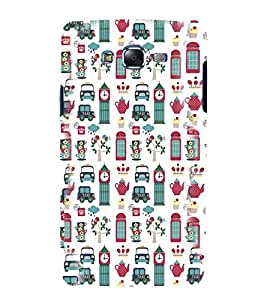 printtech Funky City Cover Back Case Cover for Samsung Galaxy Quattro i8552 / Samsung Galaxy Quattro Win i8552