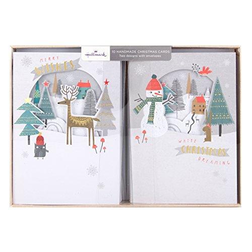 hallmark-tarjeta-de-navidad-hecha-a-mano-pack-merry-deseos-10-tarjetas-2-disenos