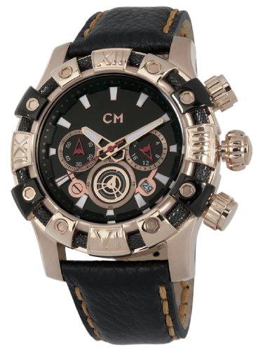 Carlo Monti CM122-322 - Reloj cronógrafo de cuarzo para hombre con correa de piel, color negro
