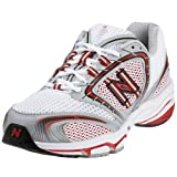 New Balance White/Silver/Red Narrow Fit Trainer