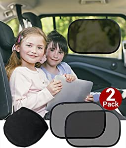 24 HOUR SALE | Cozy Greens® Car Sunshade | TESTED AND CERTIFIED UV Proof (UPF 50+) Baby Sunshade | *FREE BONUSES*: handy Carrying Bag and eBook on fun Car Games | CHARITY-APPROVED | LUXURY GIFT BOX | UV-Guard Mesh™ blocks over 98% of harmful UV Rays | Premium Quality Durable Material | Super Static Cling™ Technology | Lifetime Satisfaction Guarantee! | New Product Introduction Sale - 57% OFF Today