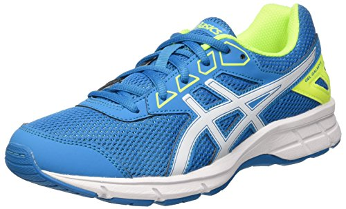Asics Gel Galaxy 9 Gs, Scarpe Running Unisex - Bambini, Multicolore (Blue Jewel/White/Safety Yellow), 38 EU