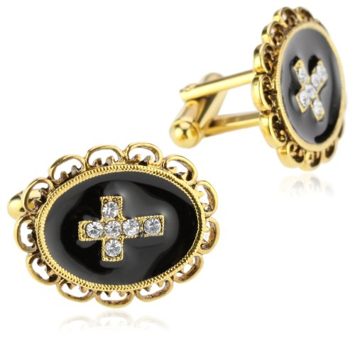 The Vatican Library Collection® Gold-Tone Cross Cuff Links