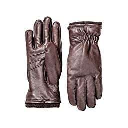 Hestra Deerskin Swisswool Rib Cuff Glove - Men\'s Dark Brown 10