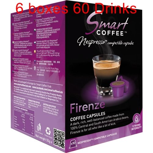 Smart Coffee Club Nespresso® Compatible Coffee Pods 6 x 10 Firenze