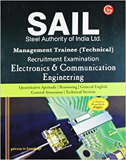 SAIL Steel Authority of India Limited Management Trainee Technical Recruitment Examination: Electronics Engineering (Including Practice Paper) price comparison at Flipkart, Amazon, Crossword, Uread, Bookadda, Landmark, Homeshop18