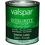 Valspar 004.6001309.005 Integrity Latex Satin Interior Wall Paint And Primer In One Paint