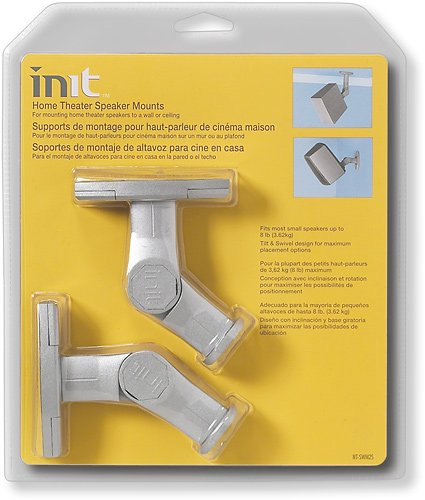 Init Home Theater Speaker Mount Kit 2 Pack White
