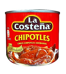 La Costena Chipotle Peppers in Adobo Sauce 7 Oz (Pack 0f 18)
