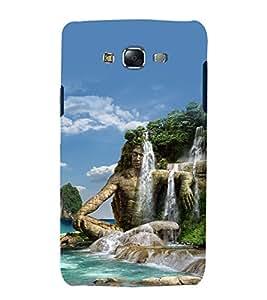 printtech Nature Man Waterfall View Back Case Cover for Samsung Galaxy E7 / Samsung Galaxy E7 E700F
