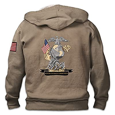 Always A Marine Men's Hoodie With USMC Emblem by The Bradford Exchange