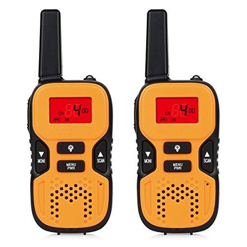 O-Best-Walkie-Talkies-Kids-Interphones-Radio-Transceiver-22-Channel-FRSGMRS-2-Way-Radio-2-miles-up-to-37-Miles-UHF-Handheld-Walkie-Talkies-for-Home-Activities-Outdoor-Climbing-1-Pair-Orange