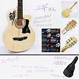 STARDUST 【 圧倒的コスパ 】 アコギさん アコースティック ギター 入門用 初心者向け (ブラック) SD-ACOSAN-BK