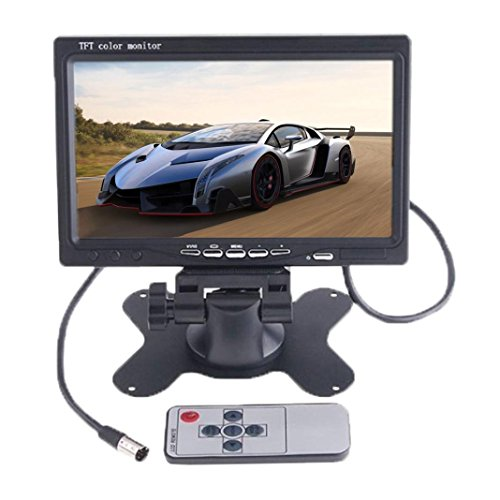 Towallmark(TM) 7inch TFT LCD Color 2 Video Input for Car RearView Headrest DVD VCR Monitor